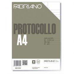 CARTA LEGALE FABRIANO A4 G80 FF500 RIGHE U/B PROTOCOLLO
