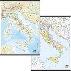 CARTINA MURALE ITALIA SCOLASTICA 97X134