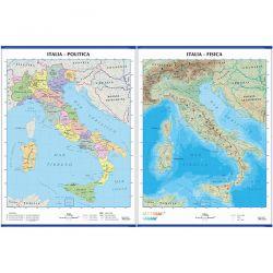 CARTINA MURALE ITALIA SCUOLA 100X140