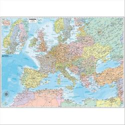 CARTINA MURALE EUROPA STRADALE 132X99
