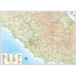 CARTINA MURALE REGIONALE LAZIO 85X64