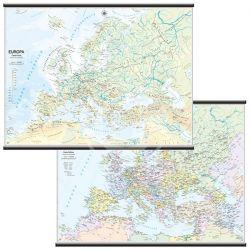 CARTINA MURALE EUROPA 132X99 SCOLASTICA