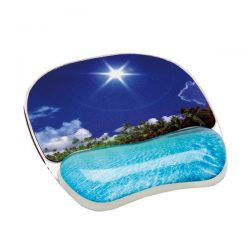 MOUSE PAD PHOTO GEL POGGIAPOLSI SPIAGGIA TROPICALE