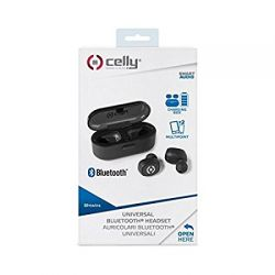 CUFFIE CELLY TWINS-IN EAR BLUETOOTH BHTWINSBK