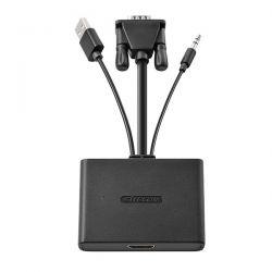 ADATTATORE HDMI CON VGA+AUDIO+USB