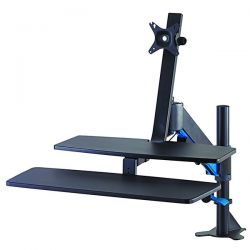 WORKSTATION KENSINGTON CON SUPPORTO SMARTFIT NERO