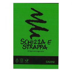 BLOCCO FAVINI SCHIZZA E STRAPPA A5 MM.148X210 FF150