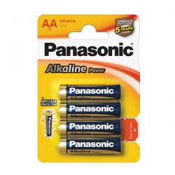 PILA PANASONIC STILO 1,5V LR6 AA ALCALINA POWER BLISTER PZ.4