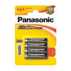 PILA PANASONIC M/STILO 1,5V LR3 AAA ALCALINA POWER BLISTER PZ.4