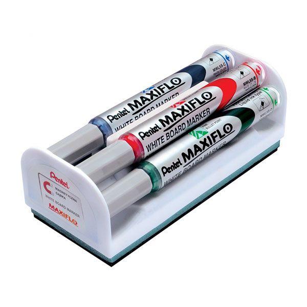 PENNARELLO MARCATORE PENTEL MAXIFLO COLORI ASS. CON CANCELLINO CF.4