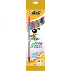 PENNA SFERA BIC CRISTAL LARGE FASHION COLOURS BL.4 ASSORTITI