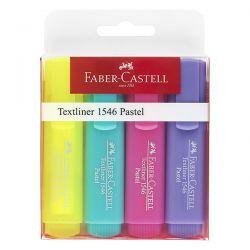 EVIDENZIATORE FABER CASTELL TEXTLINER 46  COLORI PASTELLO CF.4