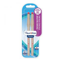 PENNA SFERA PAPER MATE REPLAY ROSSO BLISTER 2
