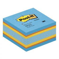 CUBO 3M POST-IT PASTELLO 76X76 FF450 2030-BA BLU-ARANCIO-GIALLO-AZZURRO