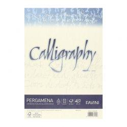 CARTA PERGAMENA CALLIGRAPHY 21X29 50FF GR.190 CREMA