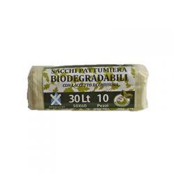 SACCHI PATTUMIERA BIODEGRADABILI 50X60 (LT30) CF.10