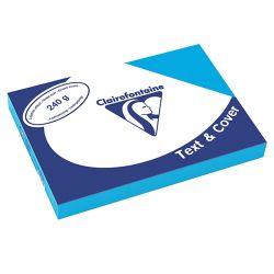 COPERTINA CLAIREFONTAINE CARTONCINO A4 CF.100 AZZURRO GR.240