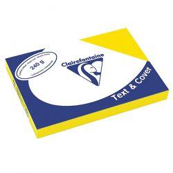 COPERTINA CLAIREFONTAINE CARTONCINO A4 CF.100 GIALLO GR.240