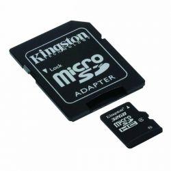 SCHEDA MICRO SD KINGSTON 16GB C/ADAT. SDCS/16GB