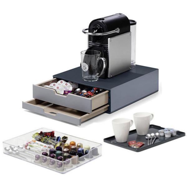 KIT COFFEE-POINT DURABLE: BOX + ORGANIZER + VASSOIO