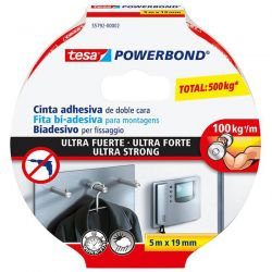NASTRO ADESIVO BIADESIVO TESA POWERBOND ULTRASTRONG 19X1,5 TRASPARENTE