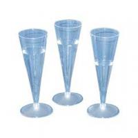 BICCHIERI PLASTICA CRIST.FLUTES CF.10