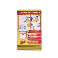 COPERTA ISOTERMICA CM.210X160 POLIESTERE  ORO/ARGENTO
