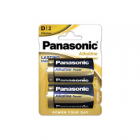 PILA PANASONIC TORCIA 1,5V LR20 ALCALINA POWER BLISTER 2