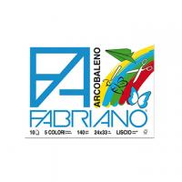 ALBUM DISEGNO FABRIANO ARCOBALENO 24X33 FF10 5 COLORI G140