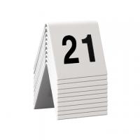 SEGNAPOSTO SECURIT PER NUMERAZIONE TAVOLI SET DA 21 A 30 CF.10