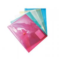CARTELLA PLASTICA CON BOTTONE PULL A5 COLORI ASS. CF.5