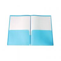CARTELLA PLASTICA CON TASCHE 30X22 IN POLIPROPILENE BLU