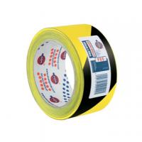 NASTRO ADESIVO SEGNALETICO PVC 50X66 NERO GIALLO
