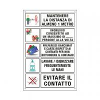 CARTELLO ALLUMINIO 33X47 DISPOSIZIONI COMPORTAMENTI GENERALI