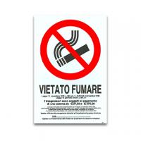 CARTELLO PVC 20X30 VIETATO FUMARE