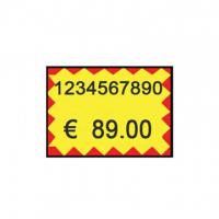 ETICHETTA ADESIVA PREZZ.26X16 CF.0010 GIALLO