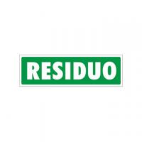 TARGA ADESIVA RIFIUTI DIFFERENZIATA UMIDO 14X14,5