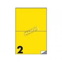 ETICHETTA ADESIVA MARKIN 210X148 CF.100 GIALLO