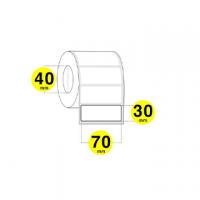 ETICHETTA TRASFERIMENTO TERMICO 70X30 CF.5000 SPAZIO MM2 ANGOLI ARROTO. BIANCA