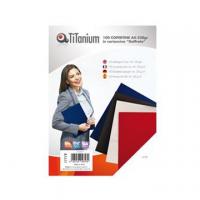 COPERTINA TITANIUM CARTONCINO COVER A4 CF.100 GR.240 BLU SCURO