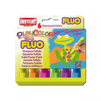 TEMPERA SOLIDA ISTANT IN STICK PLAYCOLOR FLUO CF.6