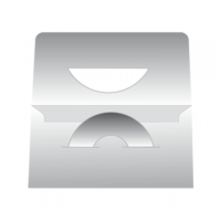 BUSTA B.CA PORTACD PER REFERTI 160X230 MM. C/ZIGRINATURA E STRIP ST.4+0 COLORI