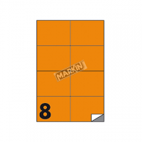 ETICHETTA ADESIVA MARKIN 105X74 CF.100 ARANCIO FLU