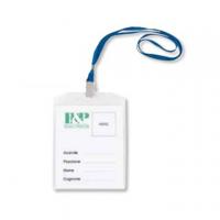 BUSTA PORTACARTELLINO PVC TRASPARENTE F.TO A6 VERTICALE C/MOSCHETTONE