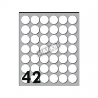 ETICHETTA ADESIVA MARKIN TONDA D.18 FF10 (420 ETICHETTE) BIANCA
