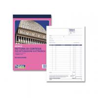 BLOCCO DATA UFFICIO FATTURE DI CORTESIA CM.21,5X14,8 A 3 COPIE AUTORICALCANTI