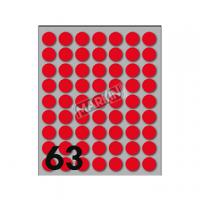ETICHETTA ADESIVA MARKIN TONDA D.14 FF10 (630 RETICHETTE) ROSSO