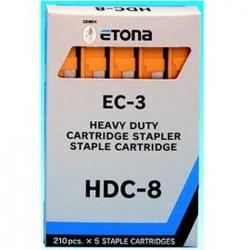 PUNTI CUCITRICE ETONA EC-3 HDC-8 MM8 GIALLO CF.1050