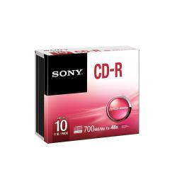 CD-R SONY R80 700MB 52X CF.10  10CDQ80SS