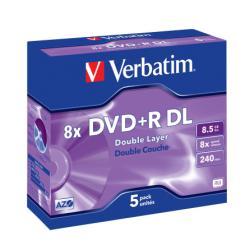 DVD+R VERBATIM D.L. 8X8,5GB CF.5